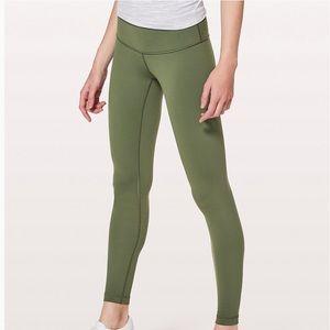 green lululemon leggings